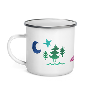 Rascal Raccoon & Airstream Dreams Enamel Camping Mug