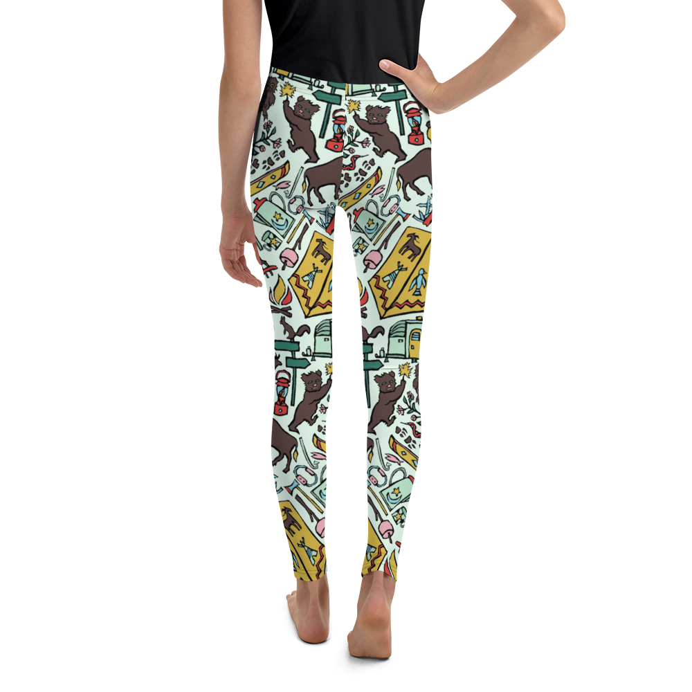 Whimsical Wilderness Youth Leggings