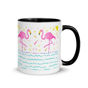 Flamingo Rays Mug with Color Inside