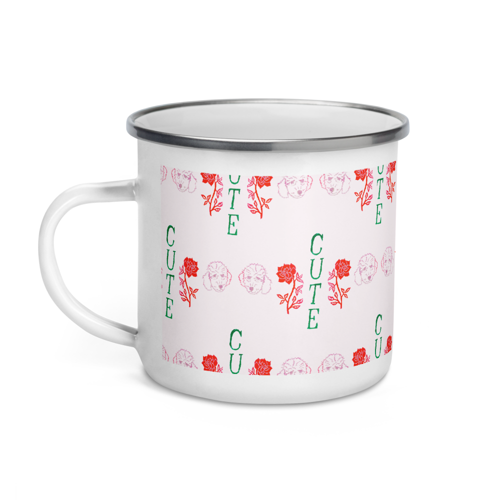 I Think You're Cute Enamel Camping Mug