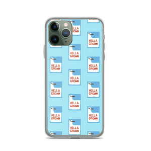 Hella Grown Block Printed Art iPhone Case