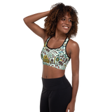 Whimsical Wilderness Padded Sports Bra
