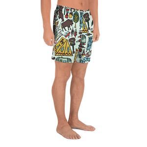 Whimsical Wilderness Athletic Long Shorts