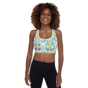 Garden for the Enlightenment Padded Sports Bra