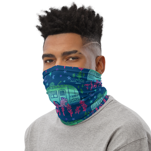 Rascal Raccoon & Airstream Dreams Neck Gaiter