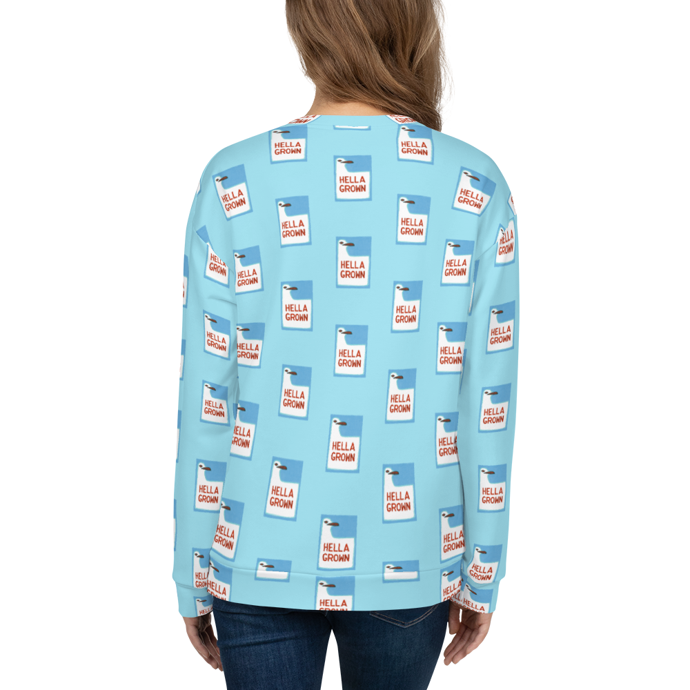 Hella Grown Pattern Sweatshirt