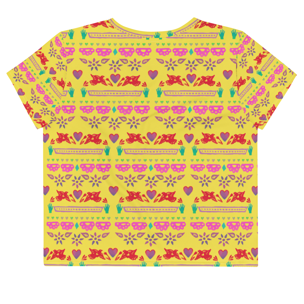 Handmade Love Papel Picado Crop Tee
