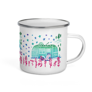 Without You My Life Would Be Boring Enamel Camping Mug