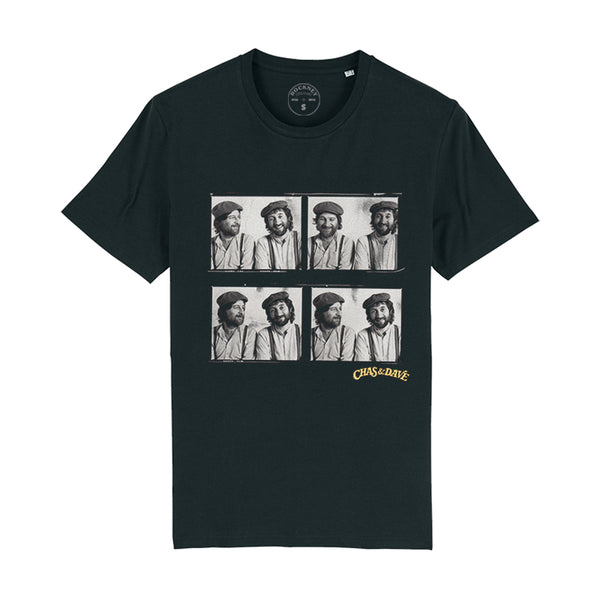 BLACK C&D FOUR PICTURE T-SHIRT