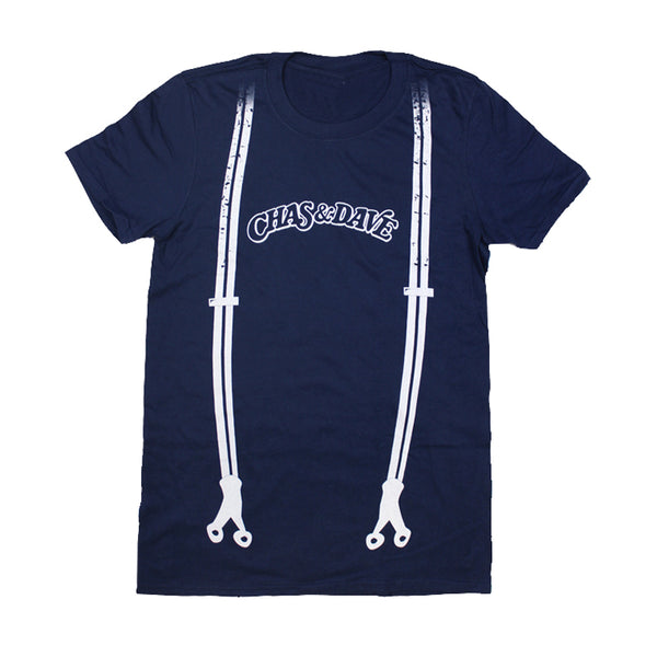 NAVY BLUE BRACES T-SHIRT