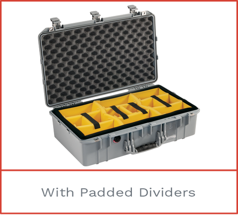 Pelican 1555 Air Case with padded dividers
