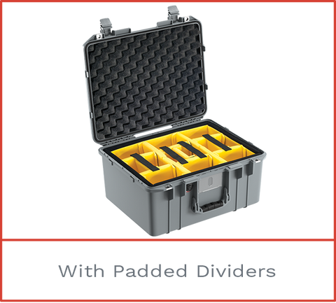 Pelican 1557 Air Case with padded dividers