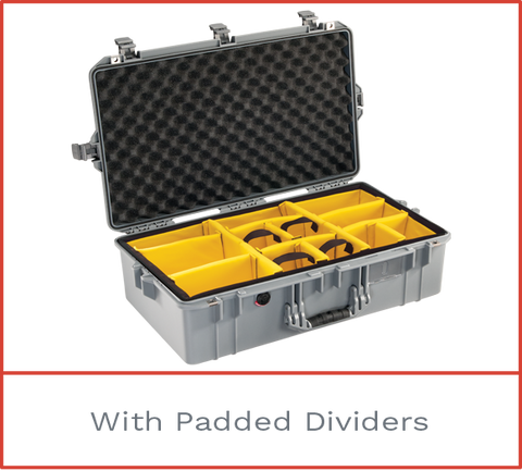 1605 Pelican Air case with padded dividers