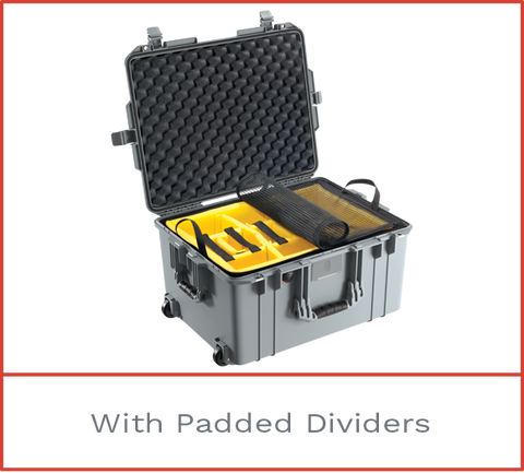 1607 Pelican Air Case with padded dividers