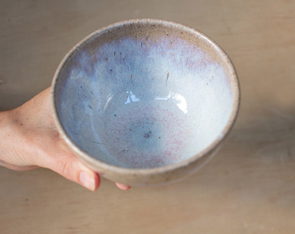SEA SHELL HANGING PLANTER - OPAL GLAZE BOWL