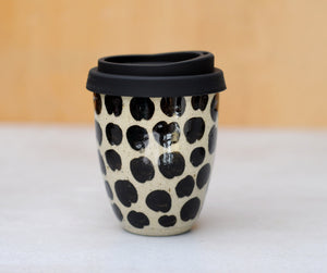 8-10oz CHEETAH EARTH CUP - SANDY CLAY