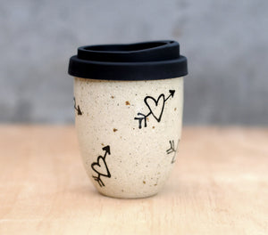 LOVE STRUCK EARTH CUP - SANDY CLAY