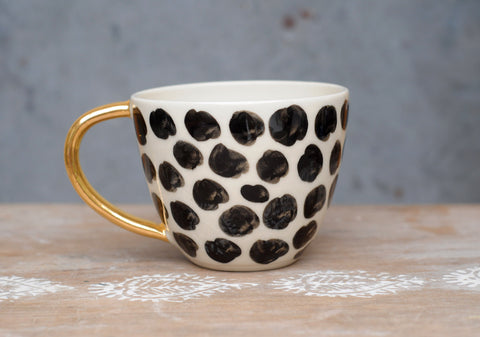 CHEETAH MUG - WHITE CLAY