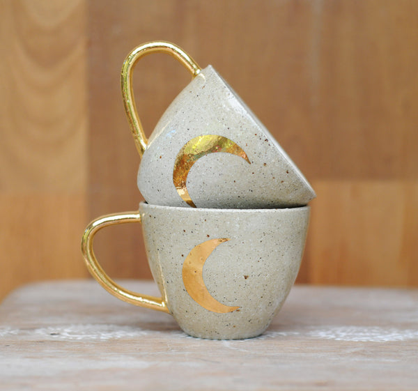 CRESCENT MOON MUG - SANDY CLAY