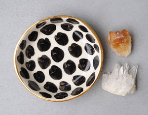 CHEETAH BOWL - WHITE CLAY