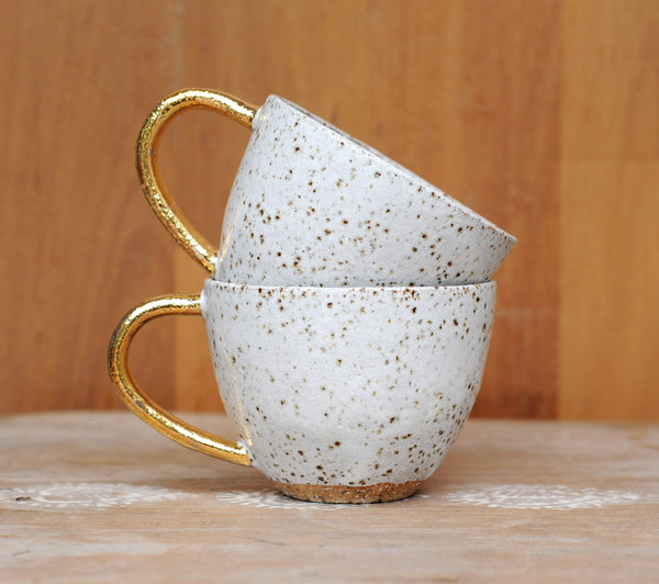 GALAXY MUG - GOLD HANDLE