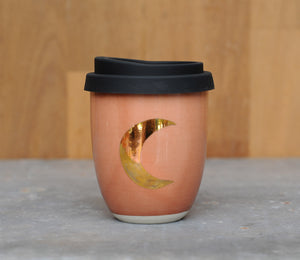CRESCENT MOON EARTH CUP - CORAL GLAZE