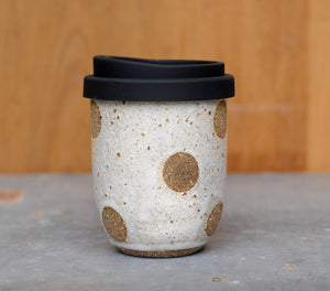 8-10oz CHOCOLATE POLKA DOT EARTH CUP