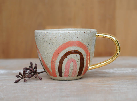 PEACHY RAINBOW CUP - SANDY CLAY