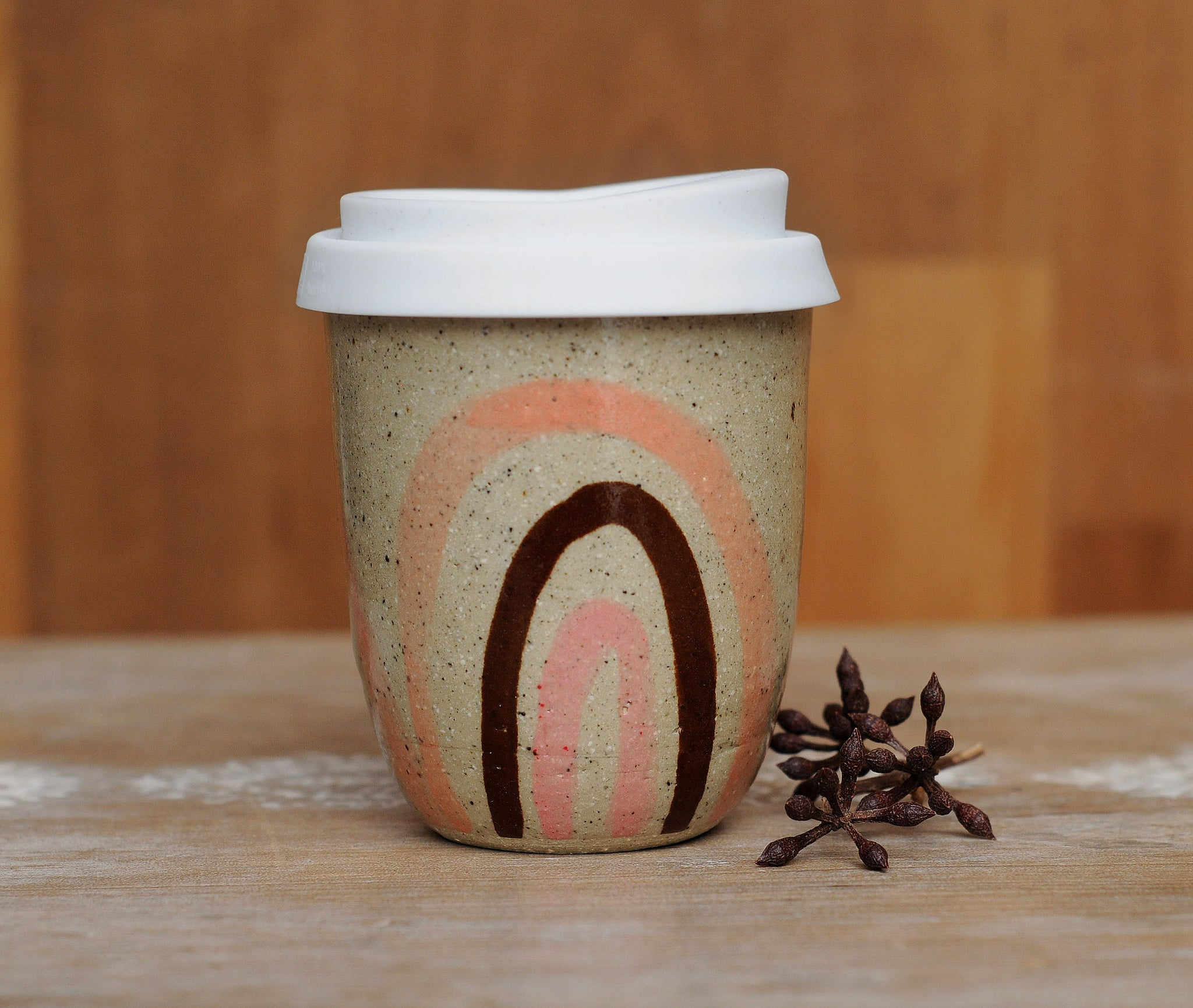 PEACHY RAINBOW EARTH CUP - SANDY CLAY