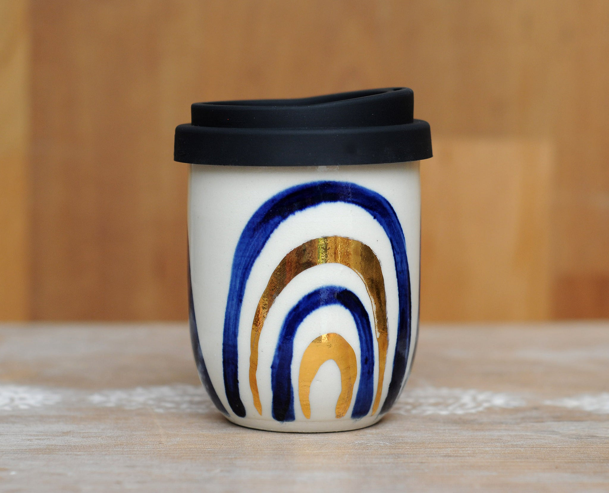 BLUE RAINBOW EARTH CUP - WHITE CLAY