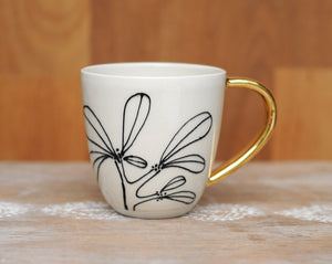 BANKSIA MUG - GOLD HANDLE