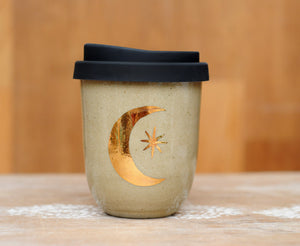 MOON & STAR EARTH CUP - TAN CLAY