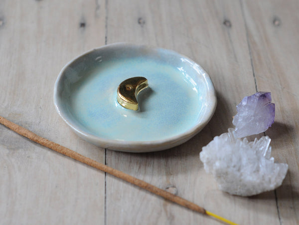 GOLD MOON INCENSE HOLDER - MINTY HAZE