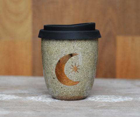 COPPER MOON & STAR EARTH CUP - CHOCOLATE CLAY