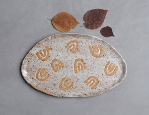 SPECKLED RAINBOW SERVING PLATTER