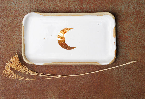 GOLD MOON PLATE - RECTANGLE