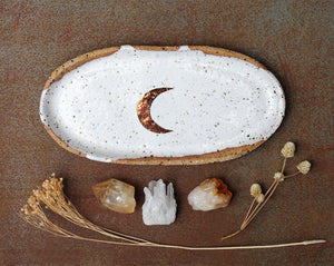 COPPER MOON PLATE - OVAL