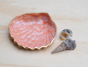 COCKLE SHELL BOWL - APRICOT HAZE