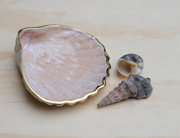 COCKLE SHELL BOWL - PINK HAZE