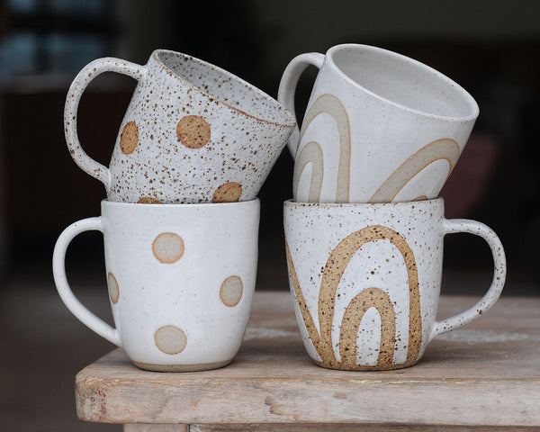 FULL MOON MUG - SALT & PEPPER CLAY