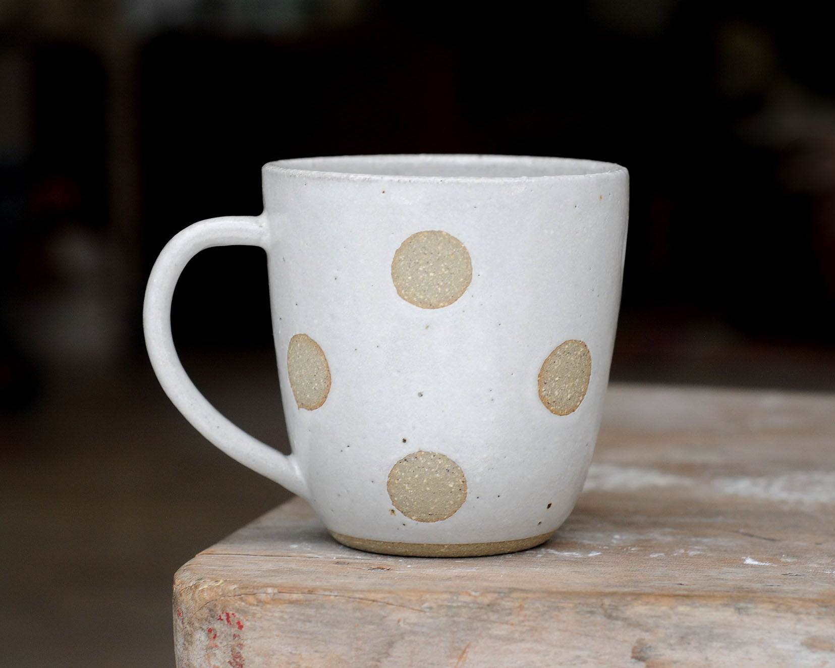 FULL MOON MUG - SANDY CLAY