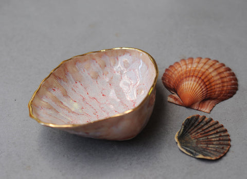 SMALL COCKLE SHELL BOWL - PINK HAZE