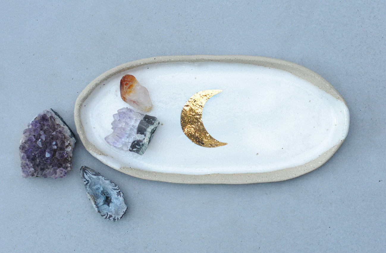 GOLD MOON PLATE - OVAL
