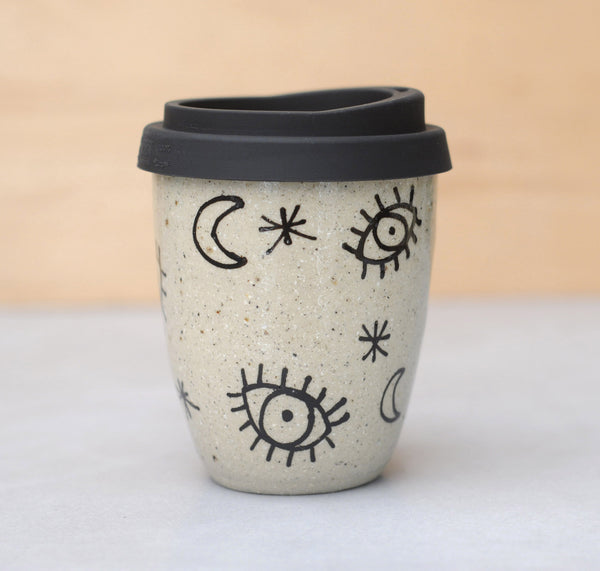 STARRY EYED EARTH CUP - SANDY CLAY