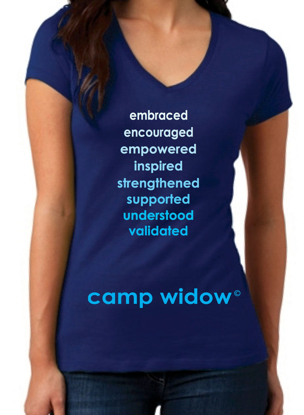 Camp Widow® Ombre V-Neck Tee