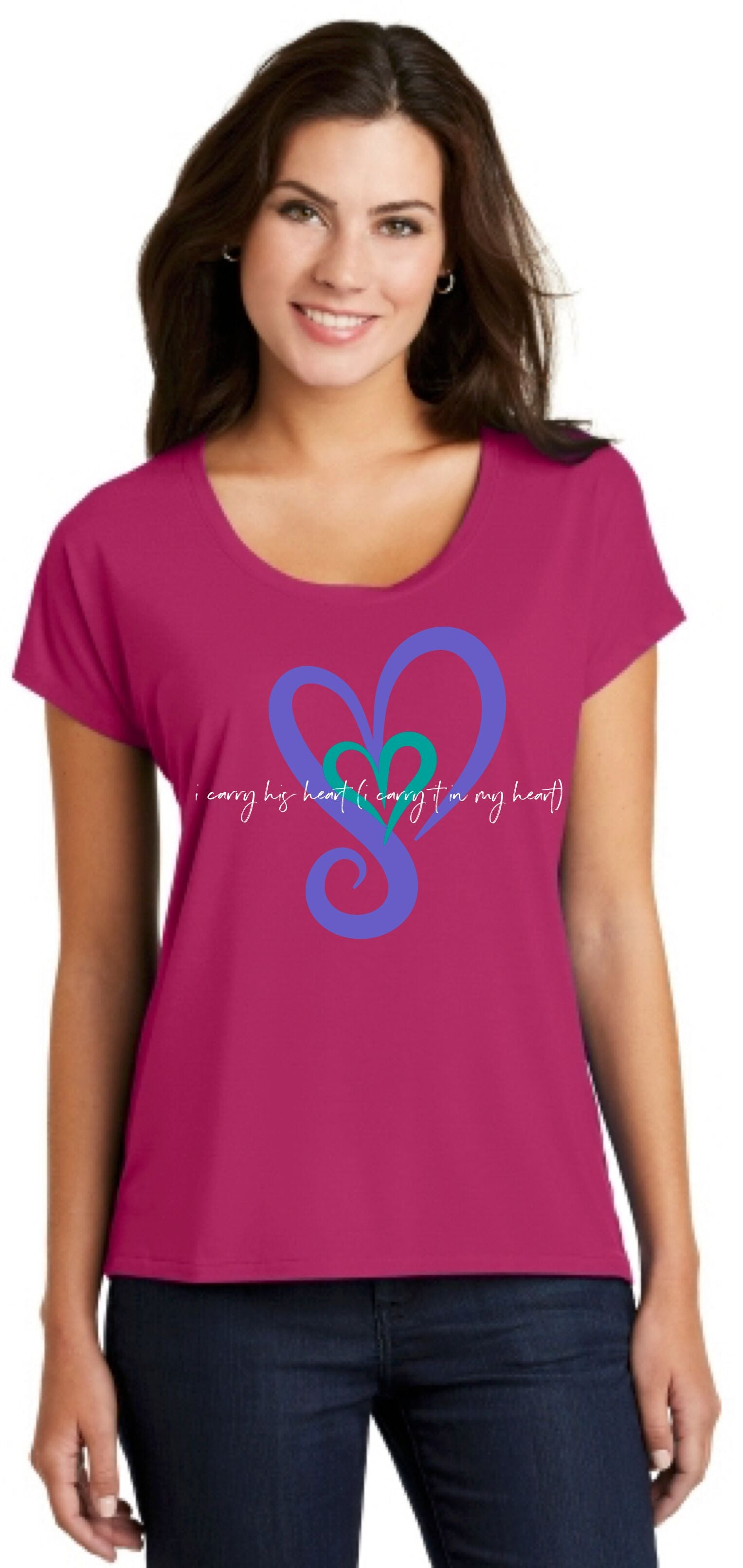 I Carry His Heart (I carry it in my heart) Drapey Tee