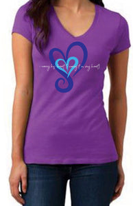 I Carry His Heart (I carry it in my heart) Tee (V-Neck)