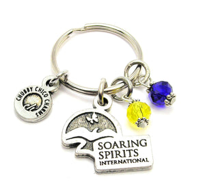 Soaring Spirits Charm and Crystal Keychain
