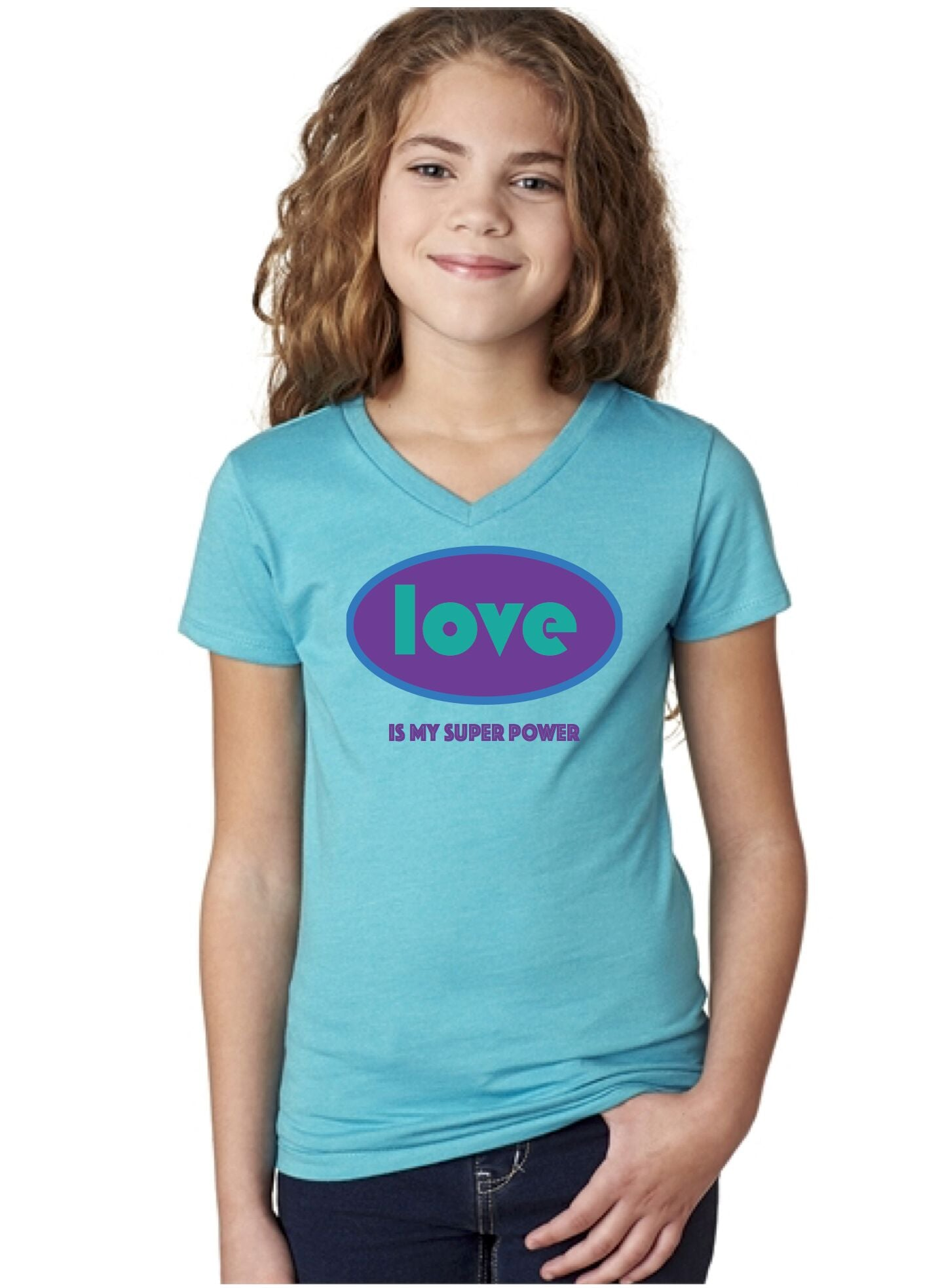 Love is My Superpower Kids Tee (Girls)