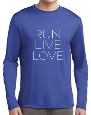 Run Live Love Running Tee (L/S; royal blue)